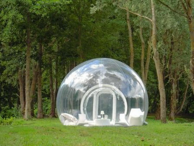 Transparent Domed Huts From Bubbletree