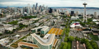 View of the Bill & Melinda Gates Foundation Seattle Campus.