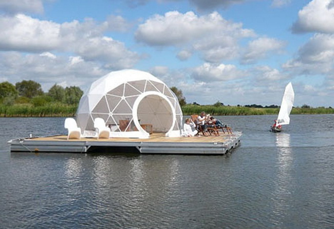 the floating dome home is a must see. Black Bedroom Furniture Sets. Home Design Ideas
