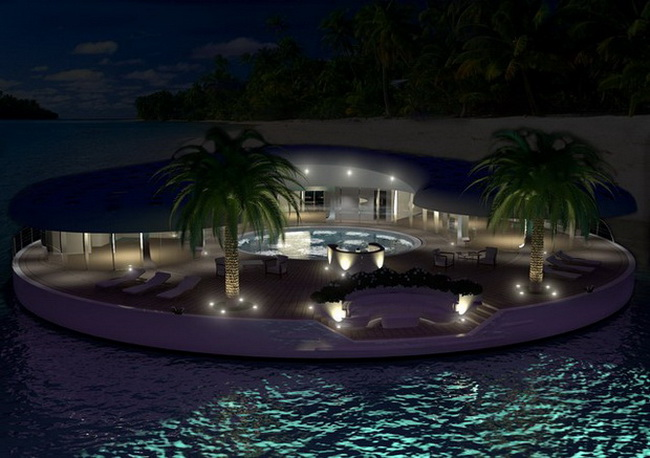 Floating island home concept in dubai ome - The floating homes of dubai luxury redefined ...
