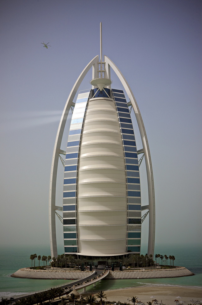 The stunning burj al arab hotel in dubai Burj al arab architecture