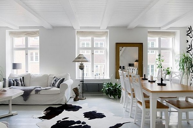 Beautiful apartment in helsingborg sweden for Duplex house interior designs photos