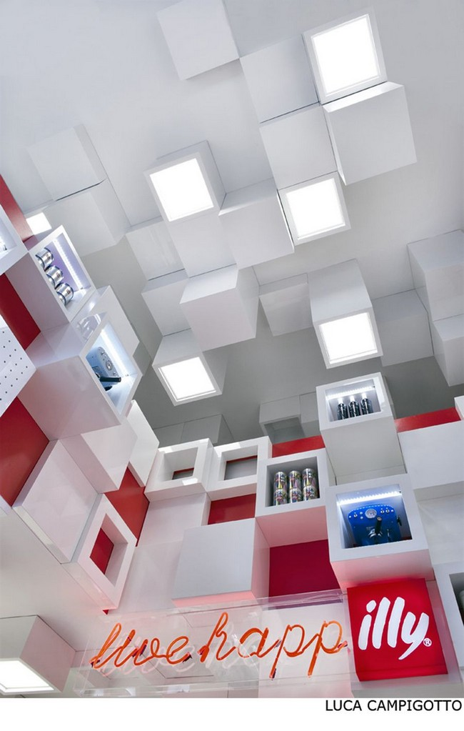 Cube Interiors Of Illy Temporary Shop By Caterina Tiazzoldi