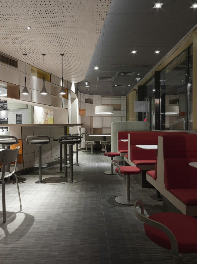 mcdonald s interior in france by patrick norguet image gallery mcdonald s interior