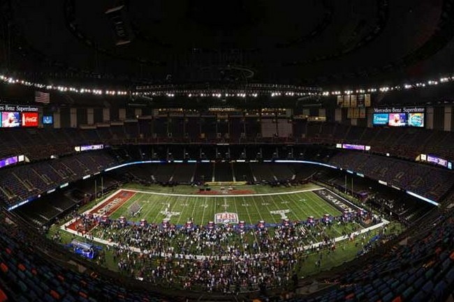 The mercedes benz superdome in new orleans louisiana for Where is the mercedes benz superdome