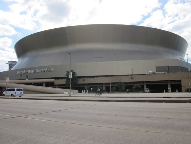 The Mercedes-Benz Superdome in New Orleans, Louisiana