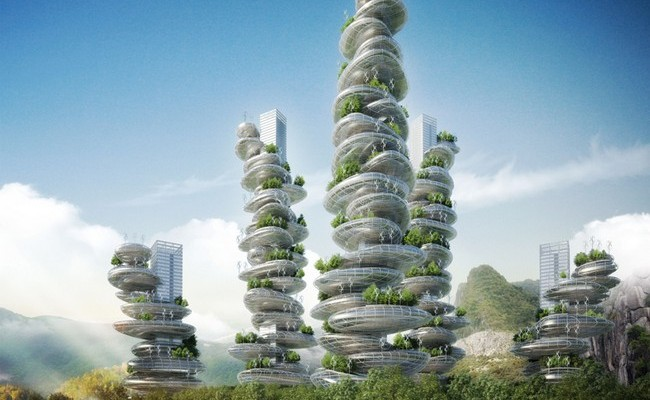 Asian Cairns by Vincent Callebaut 01