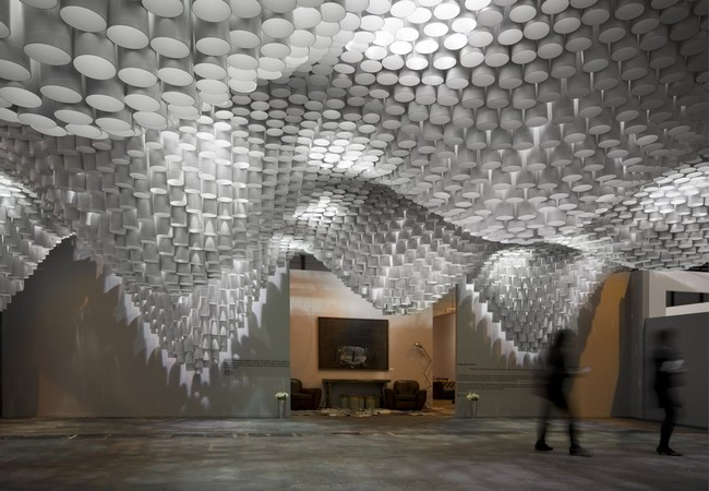 Paper chandeliers by cristina parre o architecture with mit for Mot architecture