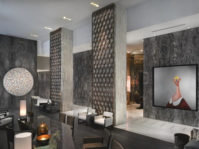 Contemporary interiors at W South Beach Miami Hotel