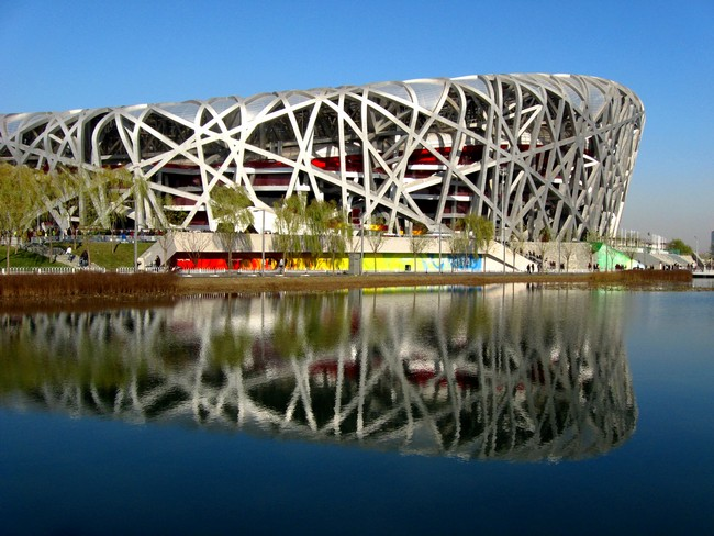 Beijing national stadium by herzog de meuron for The bird s nest stadium