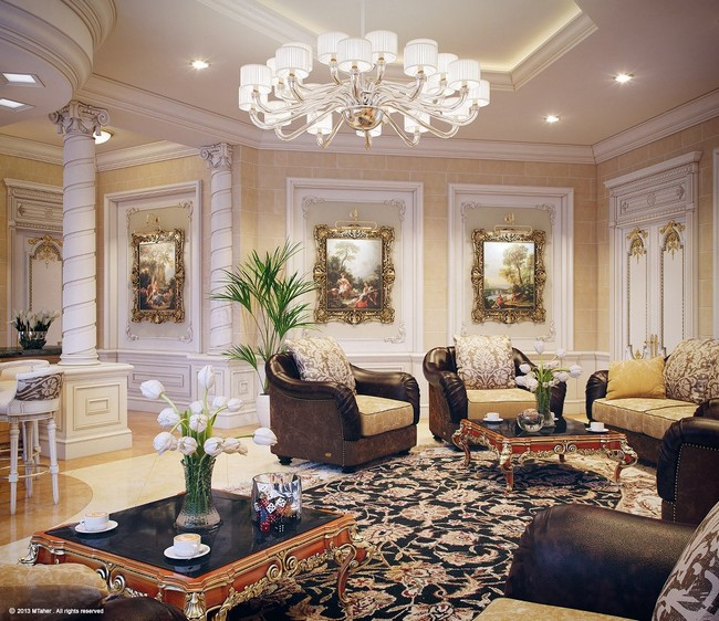 Dreamy Spaces Rendered By Muhammad Taher: Luxury Villa In Qatar By Muhammad Taher
