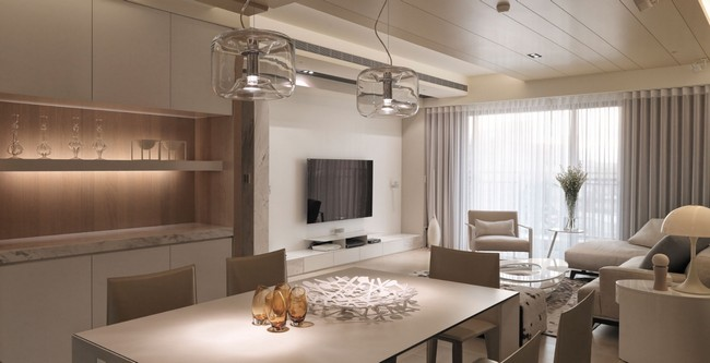 This Apartment Was Designed By The WCH Design Studio In Taiwan And It Features A Modern Contemporary Interior With Predominantly Neutral Palette Which