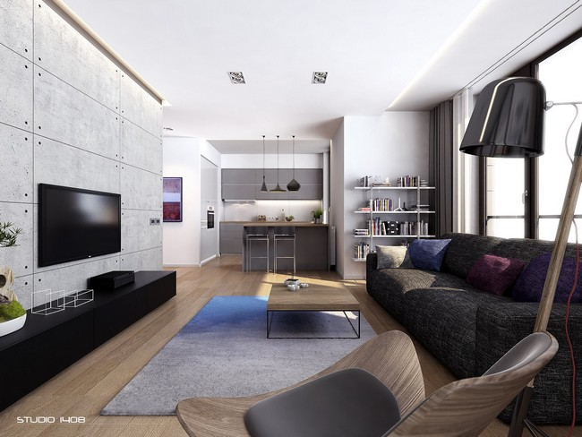 work here created this contemporary apartment with a minimalist