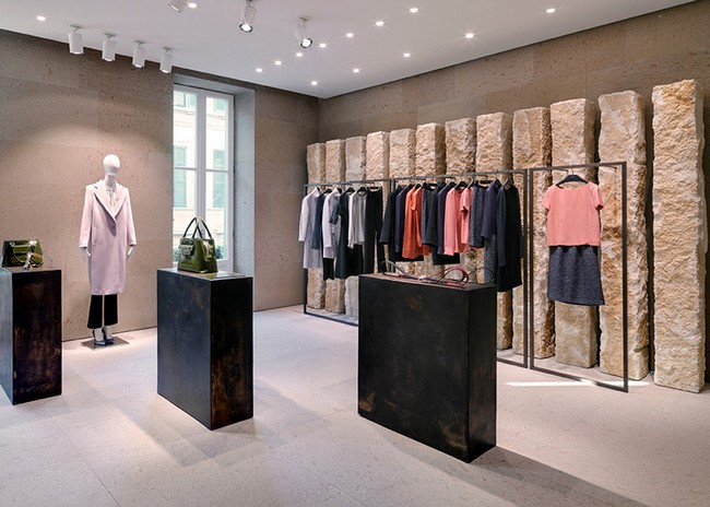 Giada milan flagship store by claudio silvestrin for Boutique interior designs