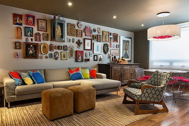 Artistic and Ethnic Mexican Apartment by Mat Colision
