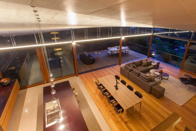 The living area extends into a large deck to ensure a great area for guests al fresco dining and sunbathing