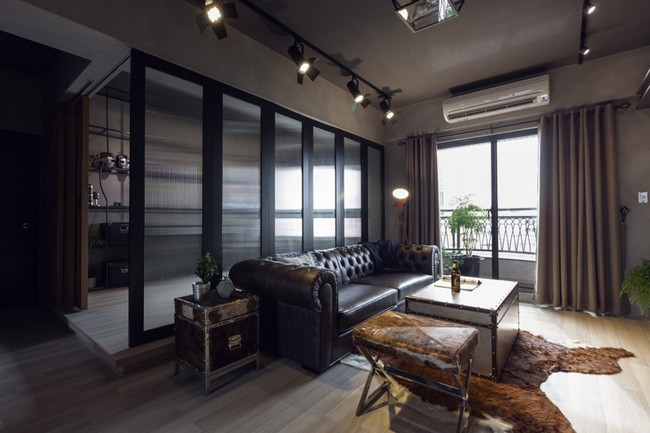 Industrial Bachelor Pad By House Design Studio