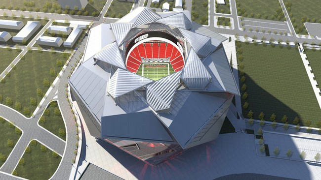 New atlanta stadium by 360 architecture for Hotels close to mercedes benz stadium atlanta ga