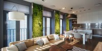 Apartment with Green Walls by SVOYA Studio 00003