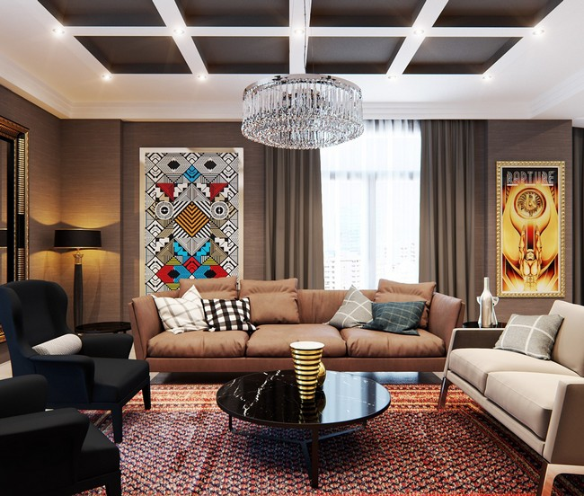 Chic Elegance Of Neutral Colors For The Living Room 10 Amazing Examples: Stylish Apartment With Classic Design Features By Elvin