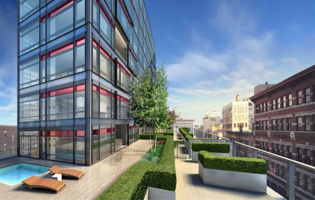 The jewel of 40 mercer by jean nouvel for Garden city pool new york