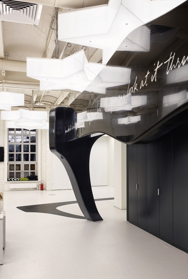Nefa architects leo burnett Spaces The Resulting Project Is Meant To Be Adaptable And To Change In Time So That It May Get Additional Slogans Or Color Spots In The Future While Still Architectism Leo Burnett Moscow By Nefa Architects