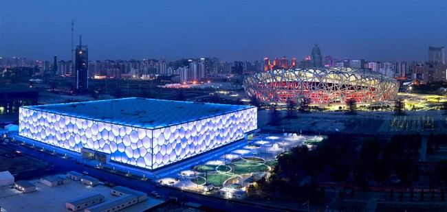 Water cube by arup for Beijing swimming pool olympics