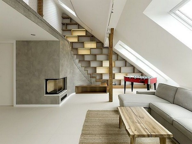 attic loft light switch ideas - Contemporary Loft in The Attic in Prague