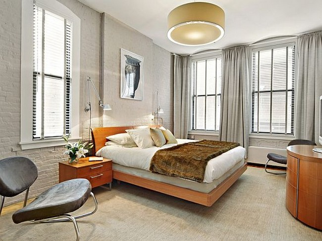 gray color for bedroom spacious and modern condominium in new york 15460